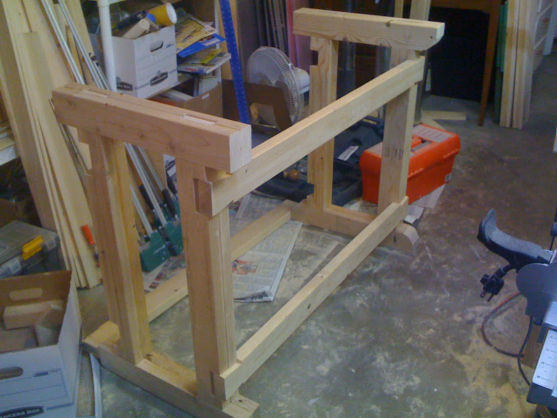 Workbench Construction #1: Joinery for the legs/base - by Richard B