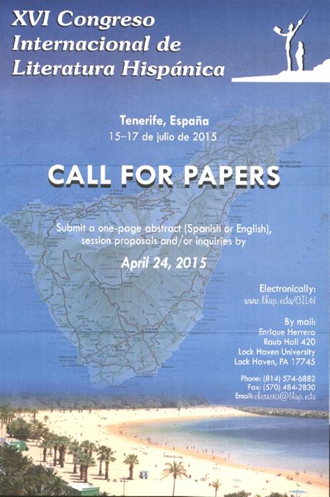 XVI Congreso Internacional de Literatura Hispánica