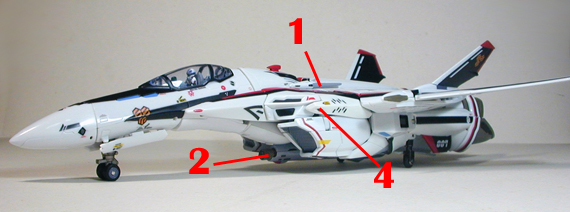 Macross Frontier VF-25F Messiah Armament weapon position