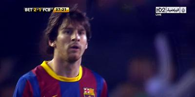 Copa Del Rey : Real Betis 3 vs 1 Barcelona 19-01-2011