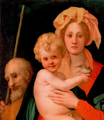 PONTORMO, Jacopo Madonna and Child with St. Joseph (detail) 1521-27