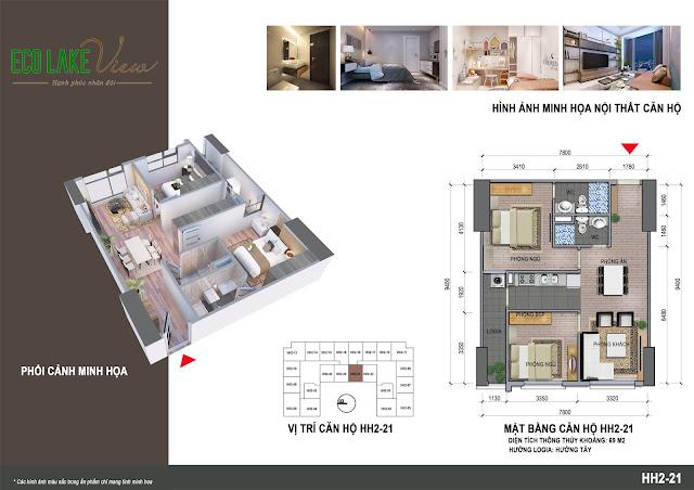 Thiết kế căn hộ 21 tòa HH-02 Eco Lake View