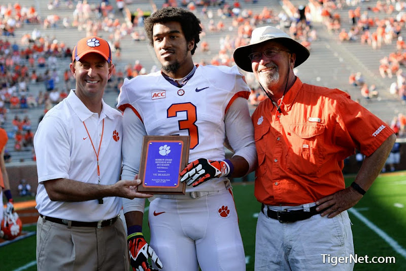 2014 Spring Game Photos - 2014, Dabo Swinney, Football, Orange and White, Vic Beasley