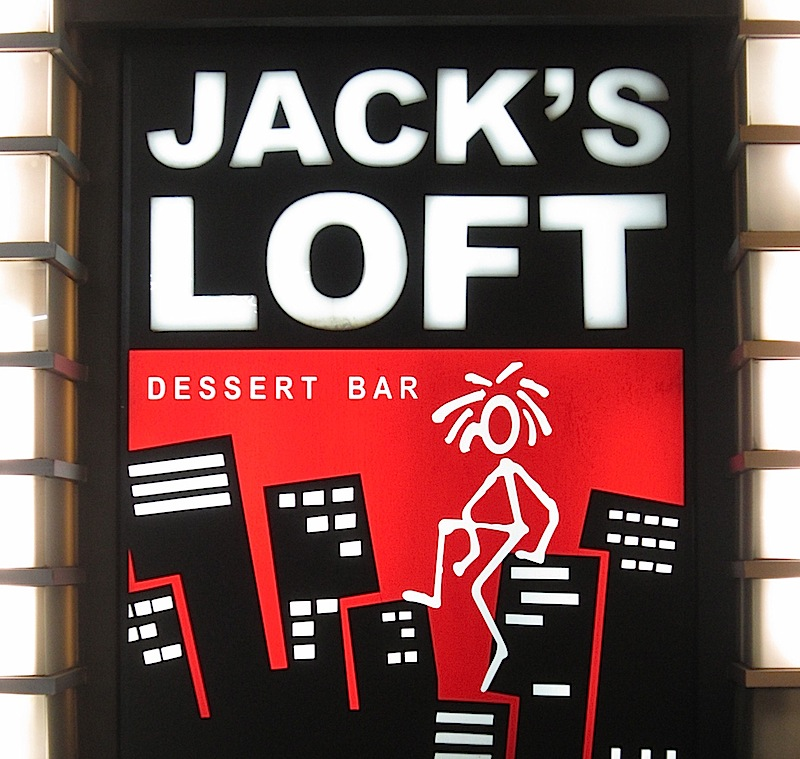 sign of Jack's Loft Dessert Bar