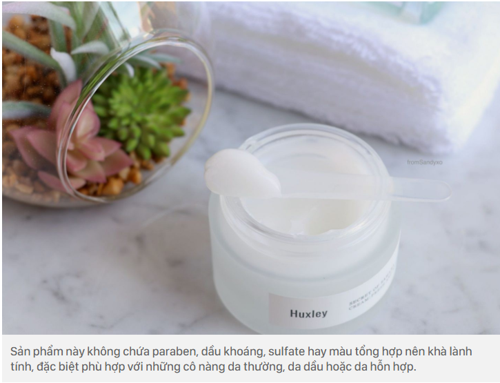 Kem dưỡng ẩm Huxley Cream Fresh and More