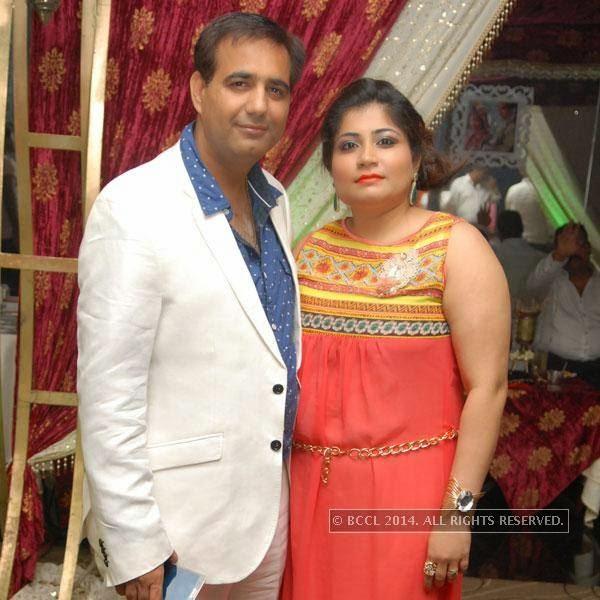 Vicky and Rakhi Kukreja during Shravan Kukerja's birthday party, in Nagpur.