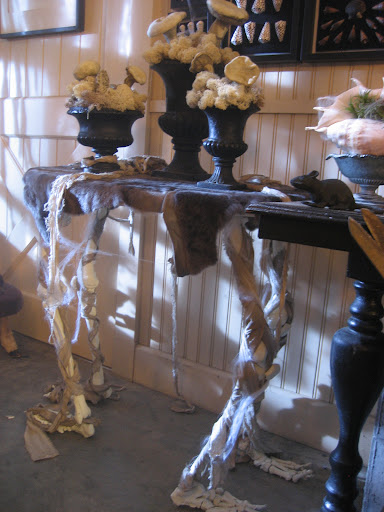 Bone table from the October issue of Living.