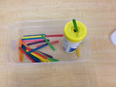Simple TEACCH work task box for special education / autism