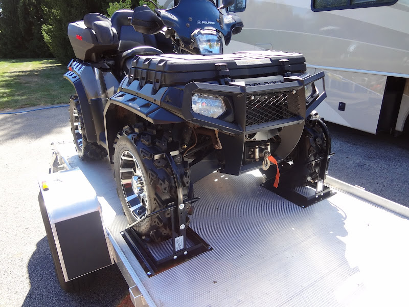 The Perfect Way To Tie Down A Atv Or Utv Can Am Atv Forum