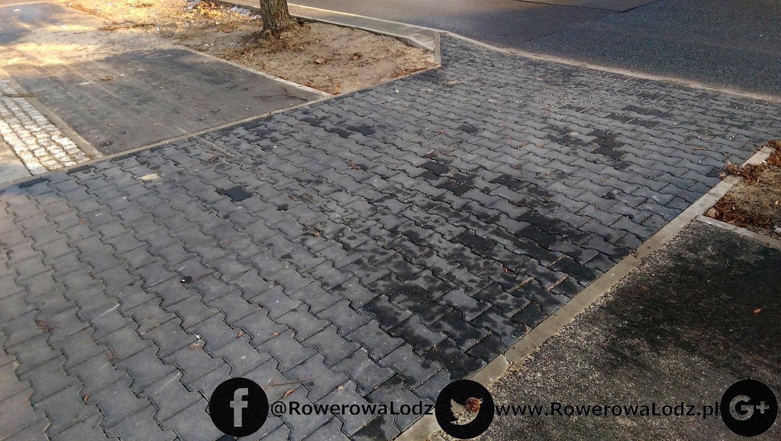 Znowu inna nawierzchnia zamiast asfaltu