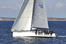 J/111 one-design racer cruiser sailboat
