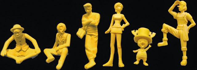 Các nhân vật ví dụ trên Mô hình One Piece Going Merry