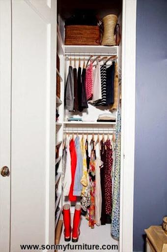 Mách bạn cách biến chỗ bừa bộn thành tủ quần áo gọn gàng-12