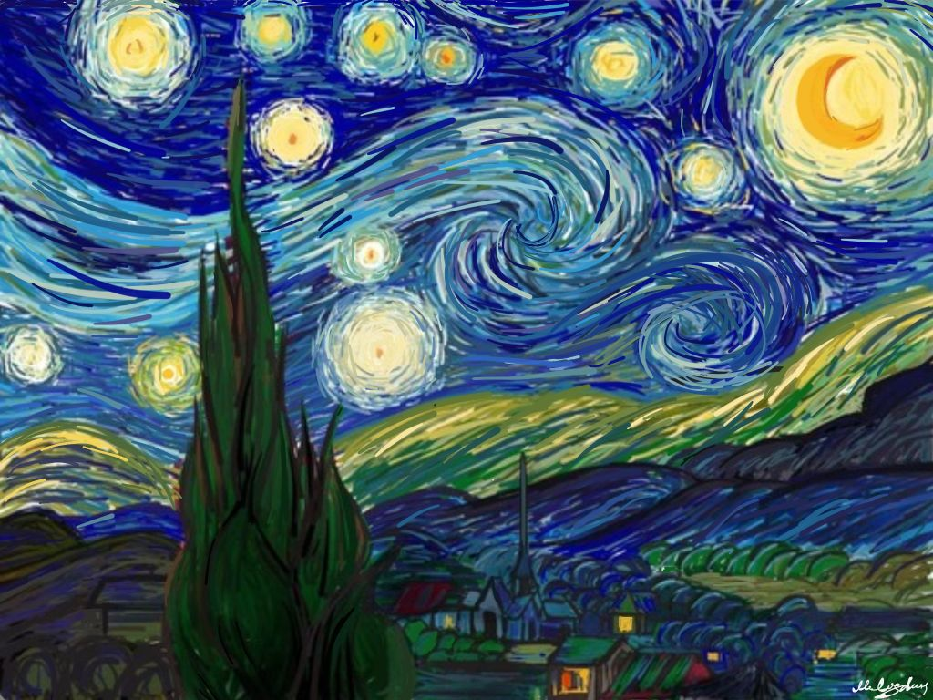 I love Van Gogh made with Sketches