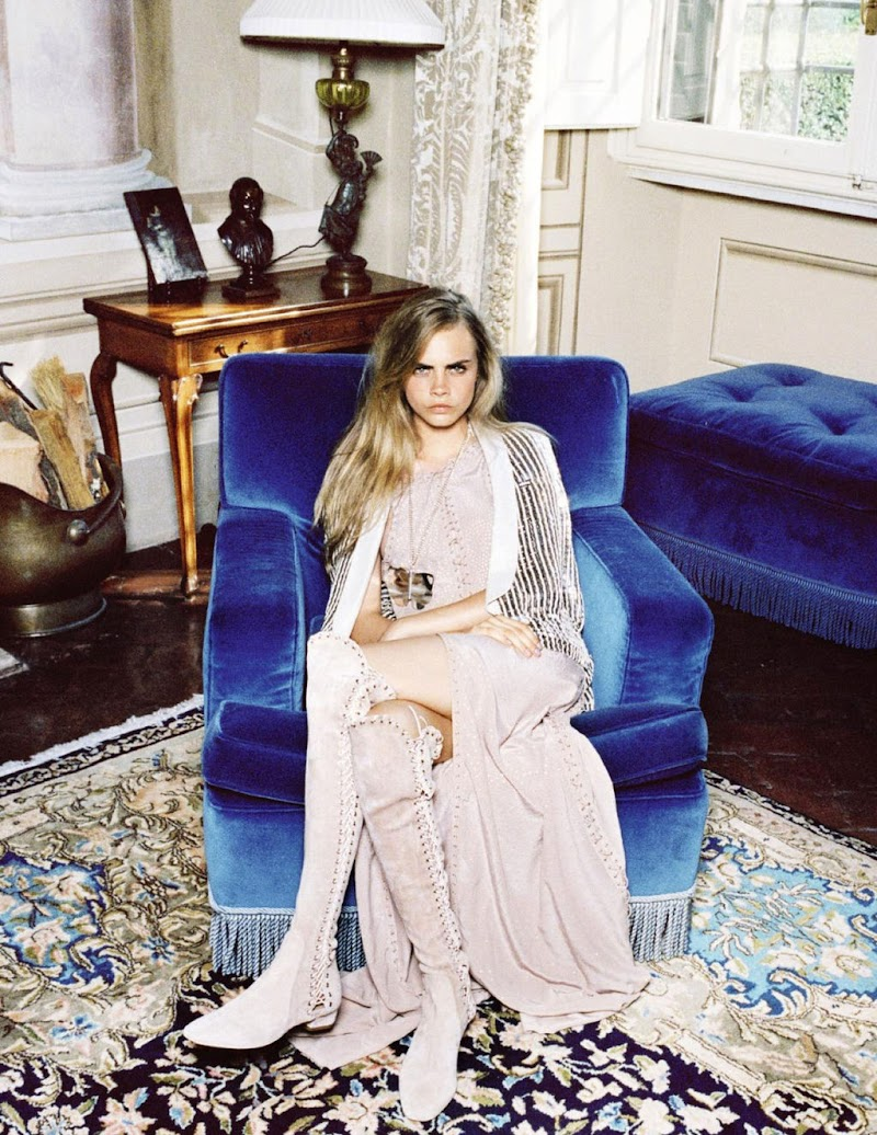 EDITORIAL: Cara Delevingne for Vogue Spain January 2013