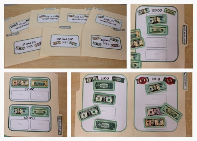 special education money life skill file folders