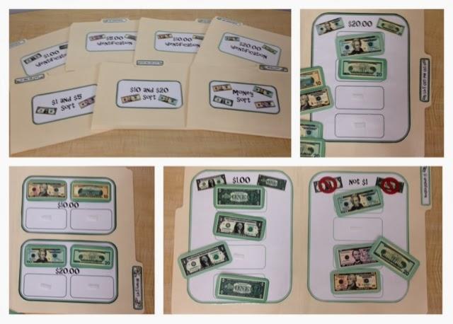 special education money life skill file folders