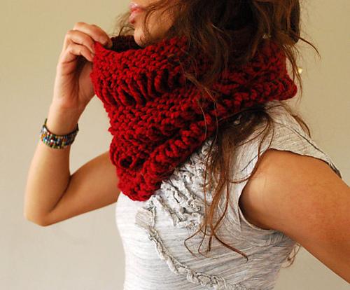 cuello sencillo punto easy knit cowl