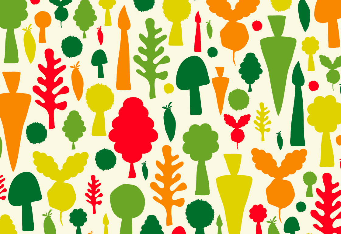 Vegetable pattern - photo#8