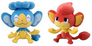 Pokemon Plush Panpour Pansear Tomy