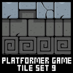 Castle Platformer Game Tile Set