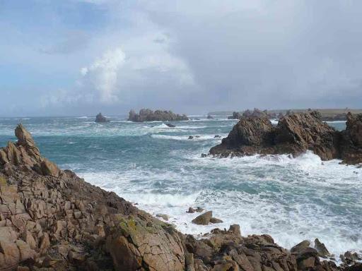 La côte ouest de l'île d'Ouessant