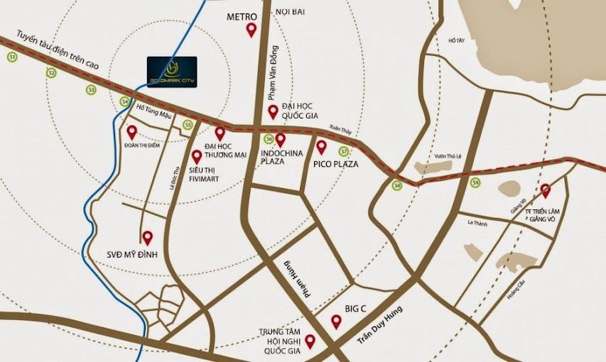 vị trí chung cư goldmark city