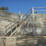 Timber steps down to rock platforms near Bare Island (308297)
