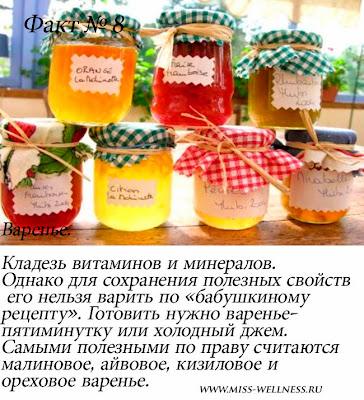 полезные сладости для фигуры варенье