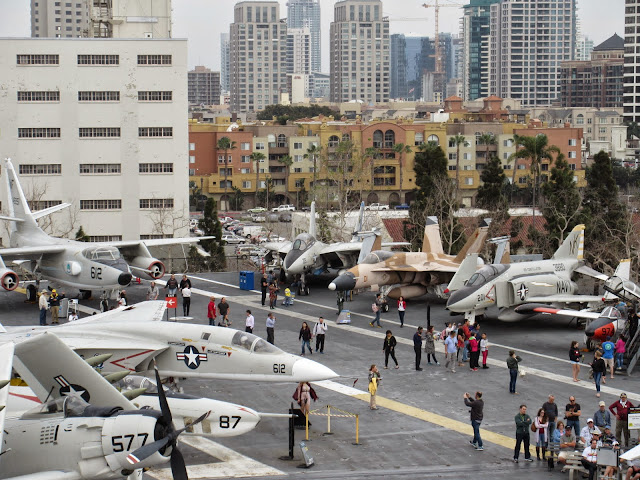 roof deck of the USS Midway