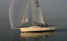J/80 sailboat- sailing Benelux National Championships