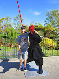Kai with Darth Maul at LegoLand