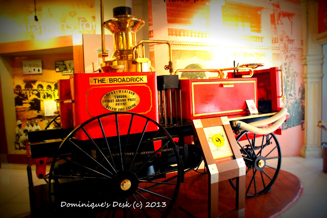 What may have been the first fire engine pulled by a horse.