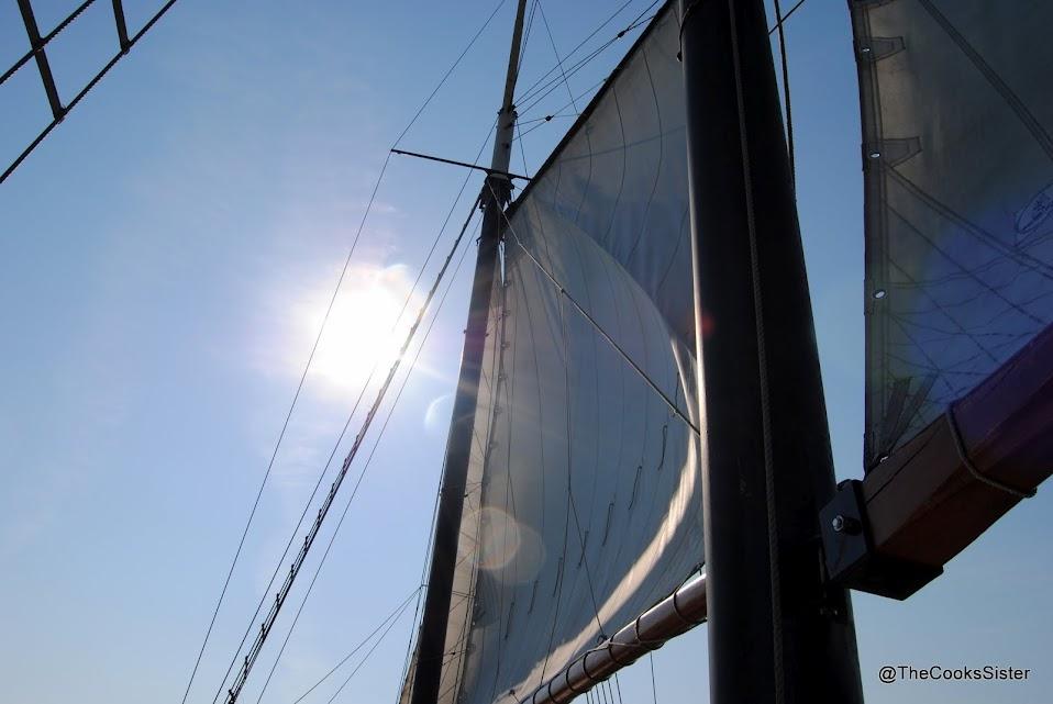 Kajama's sails are up!