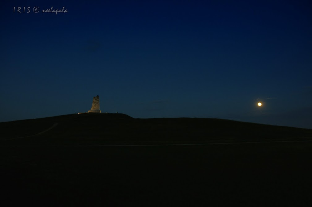Moonlit Wright Brothers Memorial, Wright Memorial, Outer Banks, Memorial for the first flight