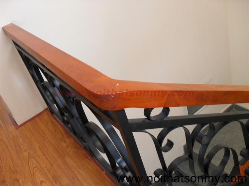 Tay vịn cầu thang gỗ 06