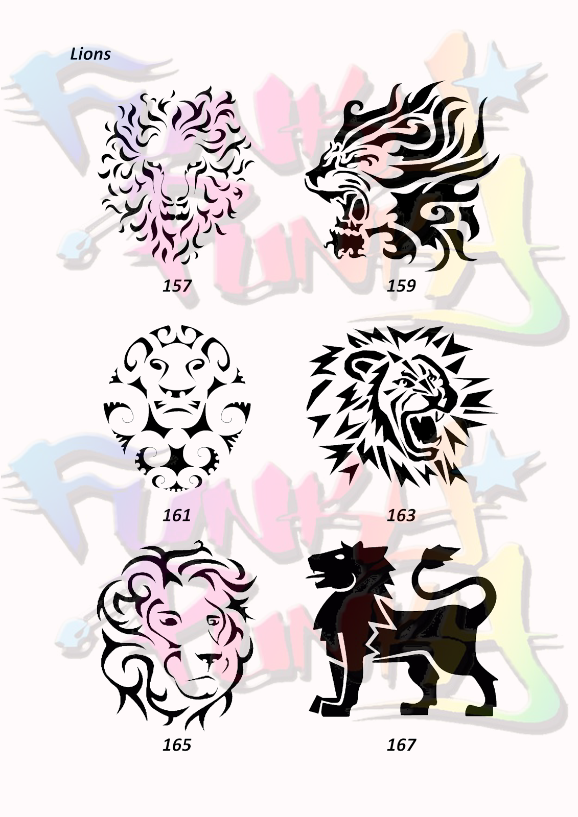 Rasta lion head stencil - photo#9
