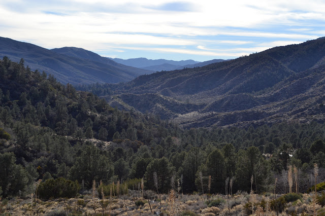 view down the valley and up Piru
