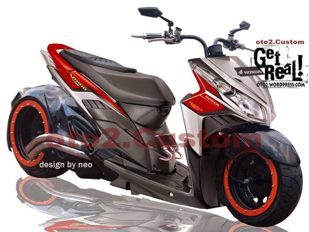 Vario Techno 125 Modifikasi Touring