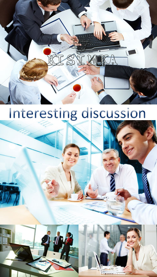 Stock Photo: Interesting discussion