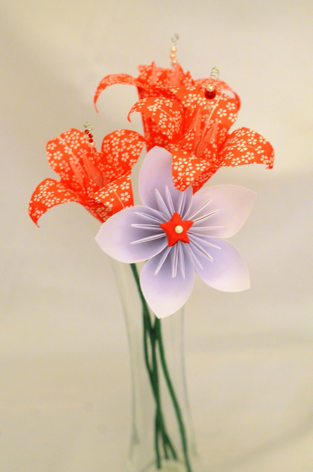 Origami Lilies And Japanese Kusudama Flowers Bouquets By Selena