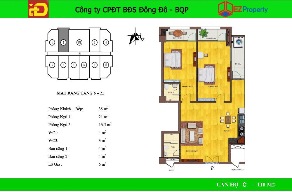 Chung cư Đông Đô 100 - 106 Hoàng Quốc Việt