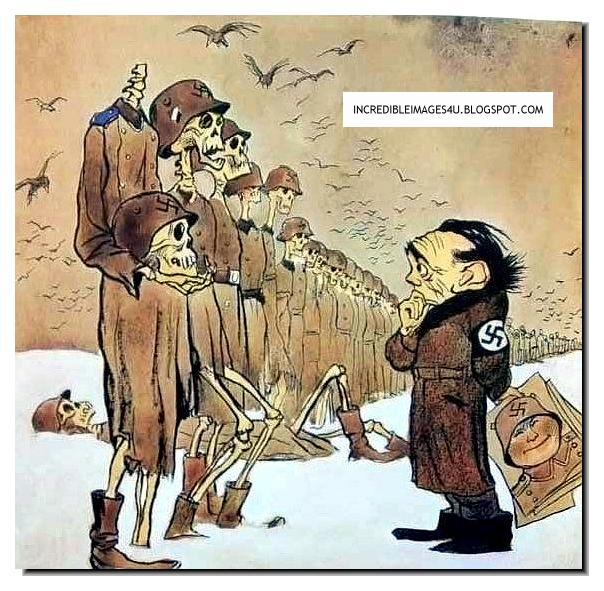 Illustrated history relive the times images of war history a cartoon by the russians in the last year of the war there were few german soldiers left publicscrutiny Choice Image