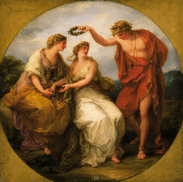 Angelica Kauffmann - Beauty Directed by Prudence, Wreathed by Perfection