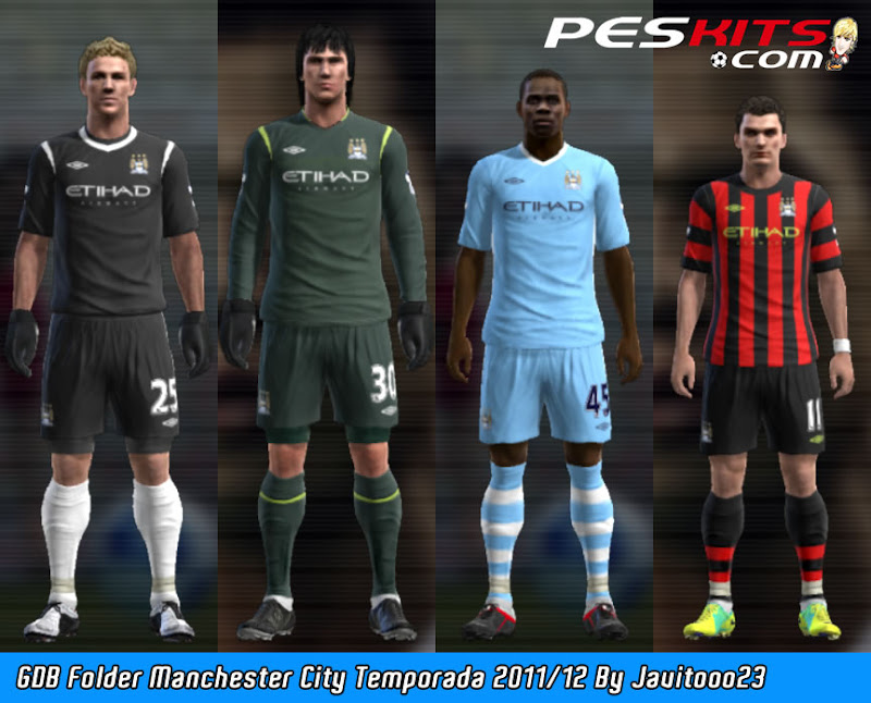 Manchester City 11-12 Kitset - PES 2012