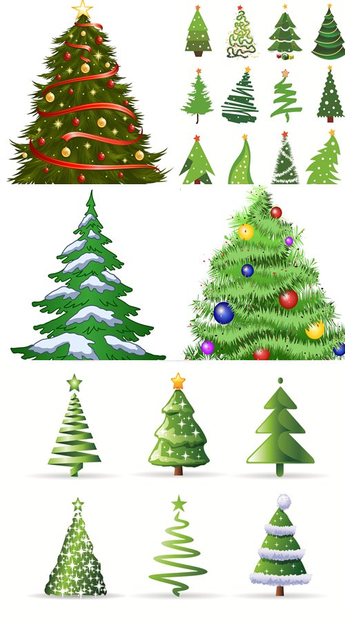 Stock: Christmas trees collection