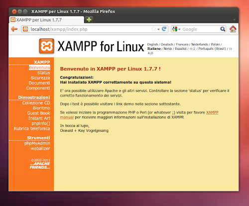 XAMPP su Ubuntu 12.04