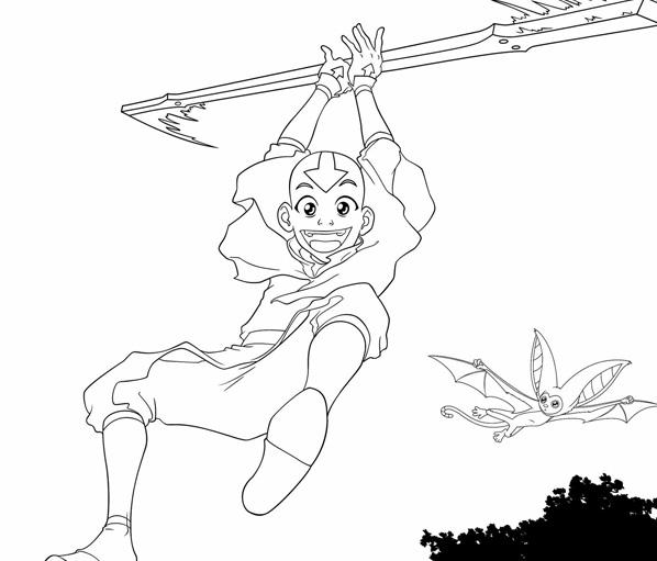 Colorea a Aang, el último maestro aire | Estado Avatar: La Leyenda ...
