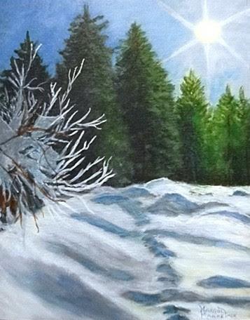 """""""Winter Sun"""" by Margot Manheimer. Acrylic. $250.00"""