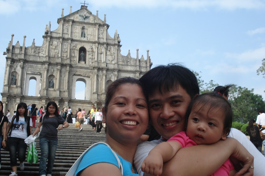 PauTravels and Family at the foot of the St. Paul Ruins in Macau